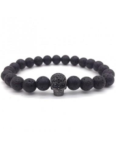 Pulsera Lava Skull color negro