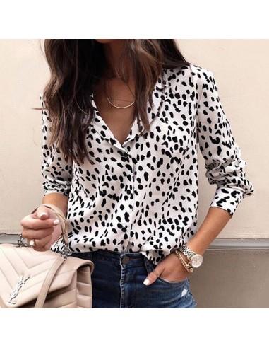 Black and white Animal Print blouse