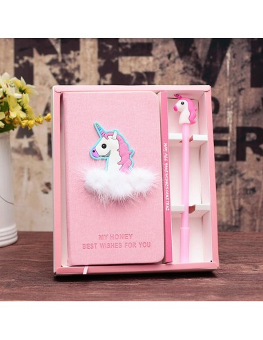 Box with notebook and pen of Unicorn