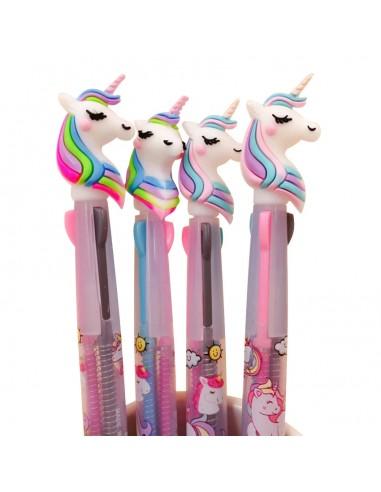 4 Unicorn pens of 3 colours