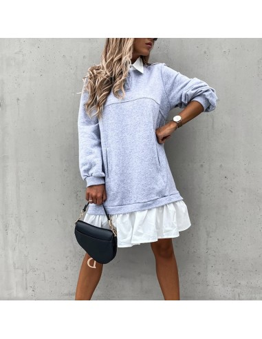 Grey sweatshirt dress