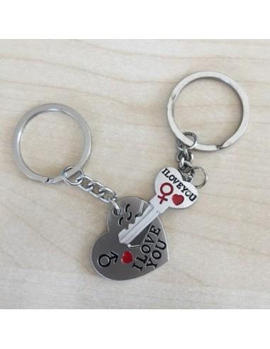 Key ring Heart and Key